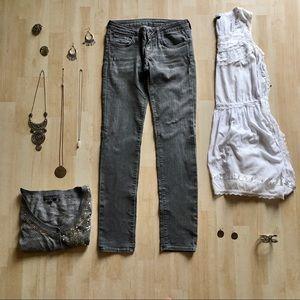 Vans Skinny B midtone grey skinny denim jeans